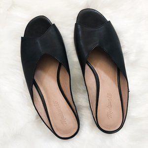 Madewell Black Tavi Slide Sandals Women Size 9